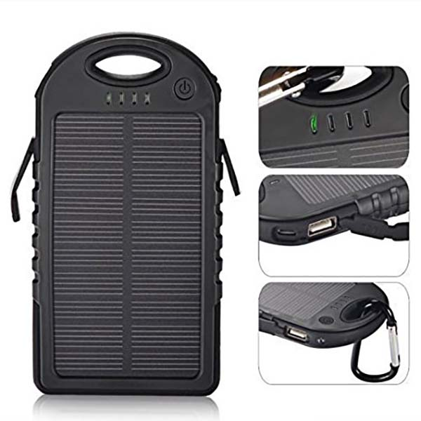LED solar charger dual USB