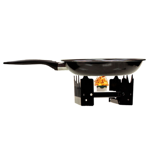 Folding stove with fuel portable