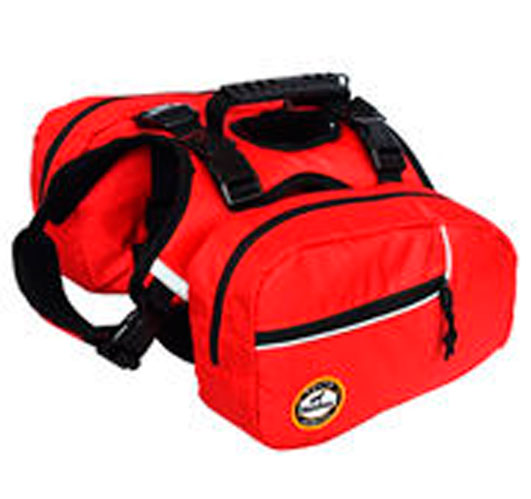 Emergency dog backpack adjustable